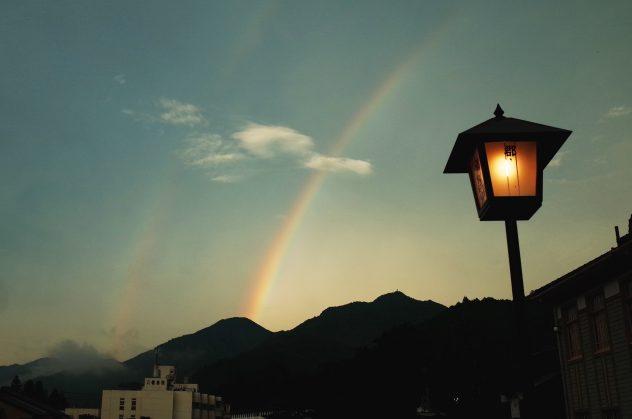 郡上 新橋 二重の虹