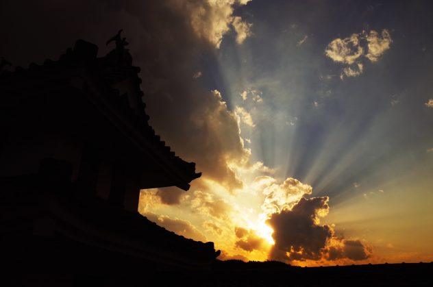 郡上八幡城 天空の城 黄昏①